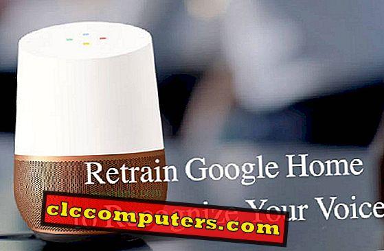 Wie kann ich Google Home neu trainieren, um Ihre Stimme wiederzuerkennen?