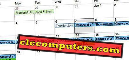 Så här installerar du två veckors väderprognos på Google Kalender