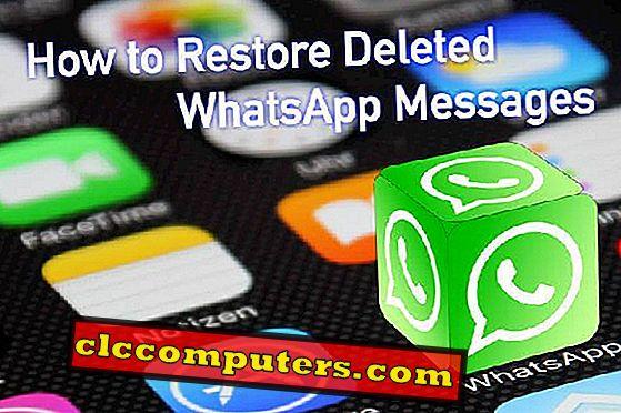 Jak obnovit odstraněné zprávy WhatsApp?