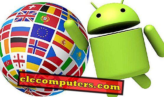 Kako upisati različite jezike na Androidu?