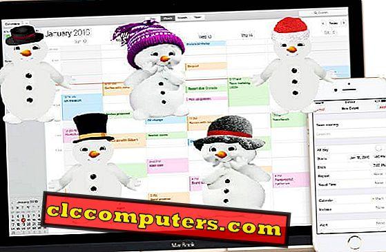 Sådan får du vejrudsigt (iCAL) på Mac og iPhone Kalender i en uge
