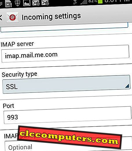 كيفية إعداد البريد الإلكتروني iCloud في أندرويد
