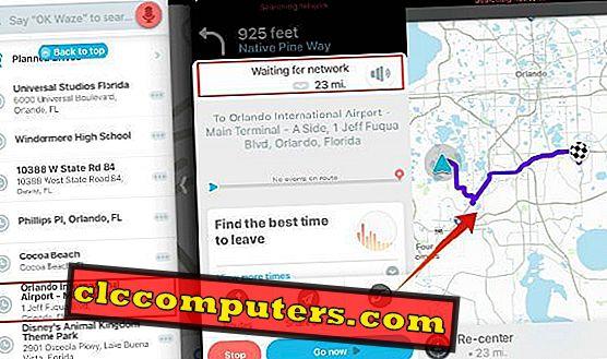 So erhalten Sie Waze und Google Map offline, um mobile Daten zu