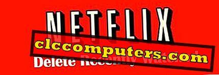 Как да изтриете Netflix Преглед на историята вместо на профила